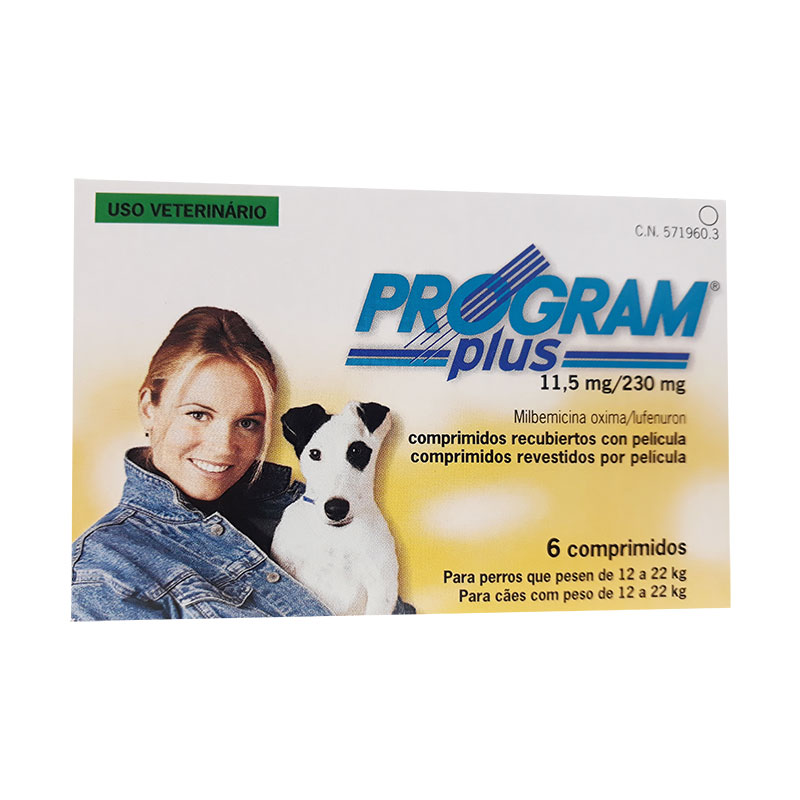Antiparasitario Program Plus 11.5mg para perros de 12 a 22kg