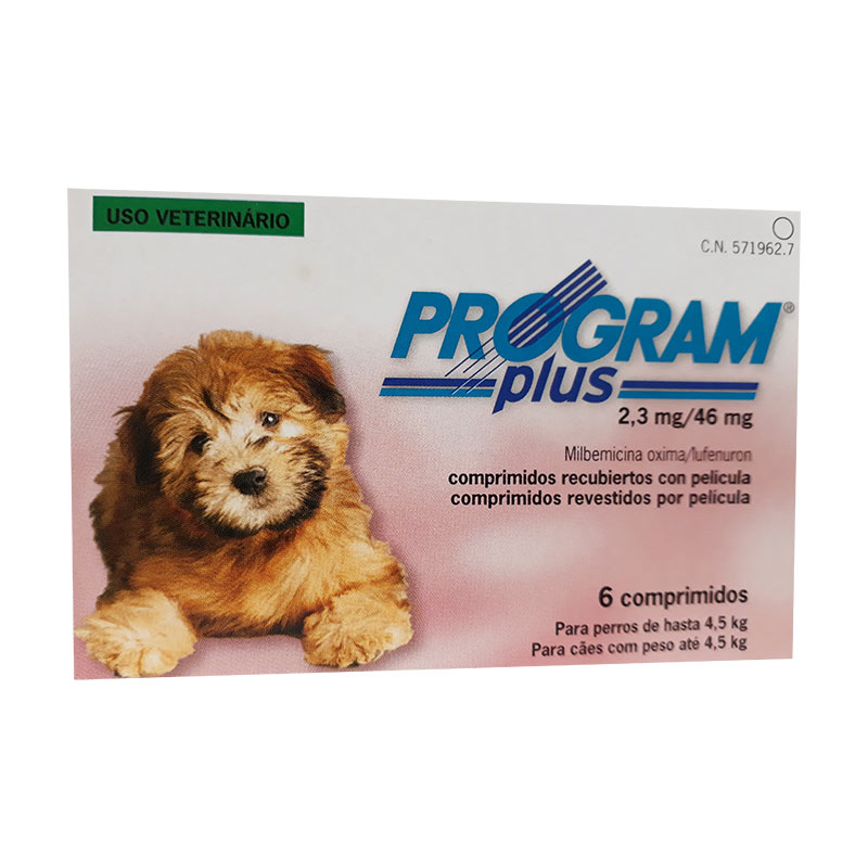 Antiparasitario Program Plus 2,3mg para Perros hasta 4,5kg