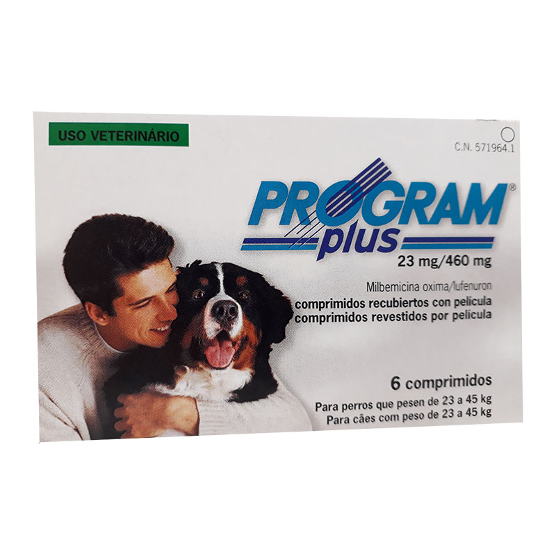 Antiparasitario Program Plus 23mg para perros de 22 a 50kg
