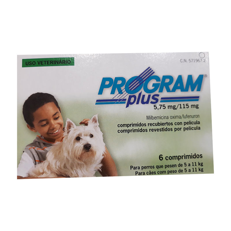 Antiparasitario Program Plus 5.75mg para perros de 4.5 a 11kg