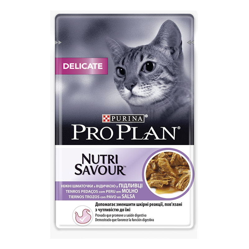 Pro Plan Cat Delicate Turkey In Sauce Pouch