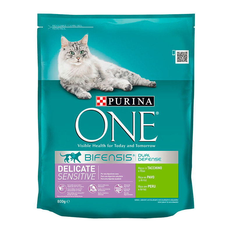 Purina One Gatos Digestión Sensible rico en Pavo y Arroz
