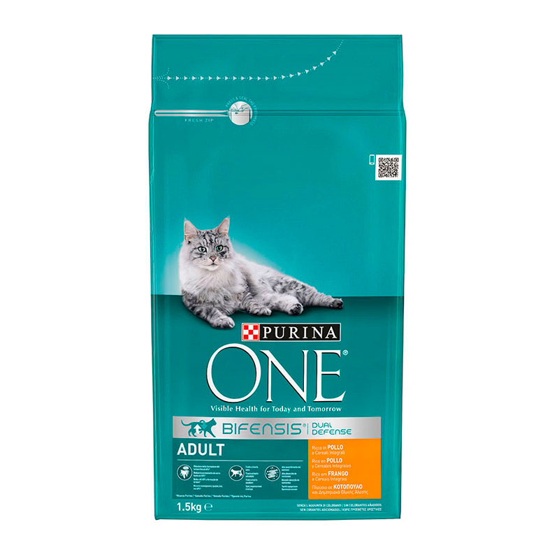 Purina One Adult Cat rich in Chicken & Whole Grains