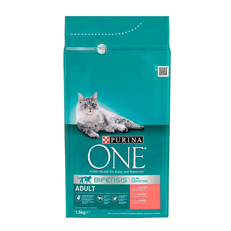 Purina One Adult Cat rich in Salmon & Whole Grains
