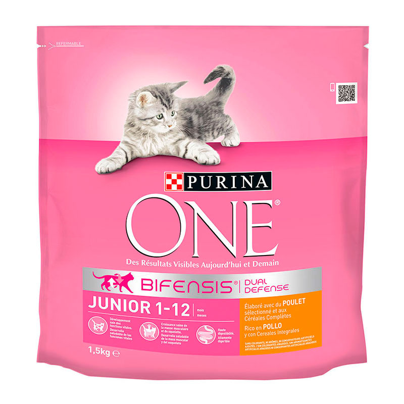 Purina One Gato Junior Pollo y Cereales Integrales