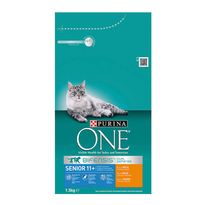 Purina One Adult Cat Senior 11+ Chicken & Whole Grain Cereals
