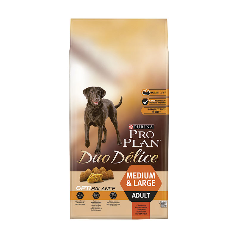 Purina Pro Plan Duo Délice Adult Medium & Large Breed with Beef & Rice