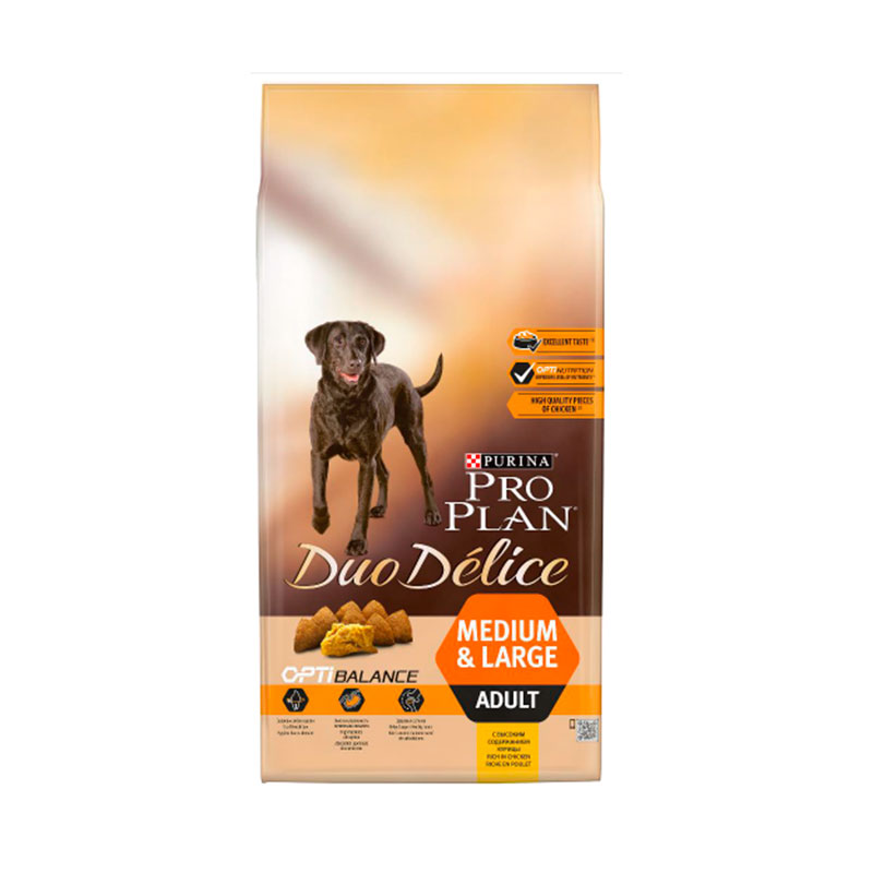Purina Pro Plan Duo Délice Adult Medium & Large Breed with Chicken & Rice