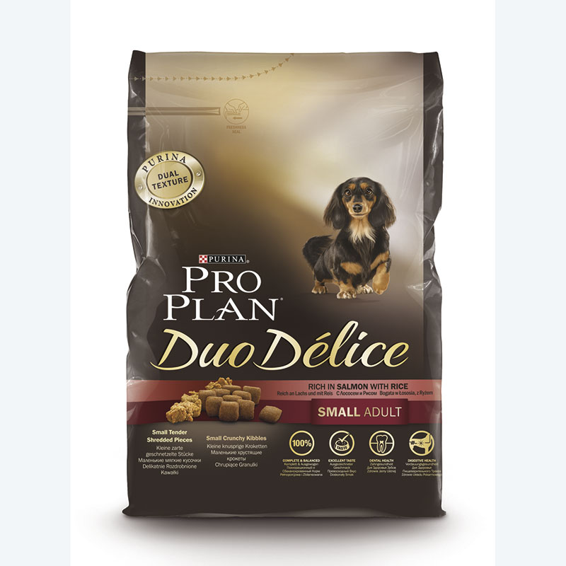 Purina Pro Plan Duo Délice Adult Small Breed with Salmon and Rice