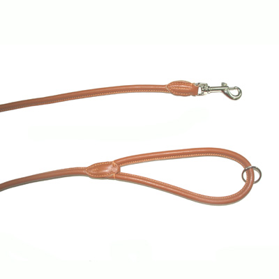 Leather Leash Round Singapur Natural