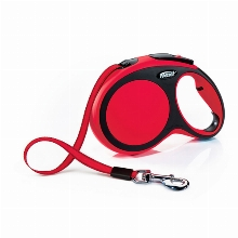 Retractable Leash flexi NEW COMFORT Tape Long Red