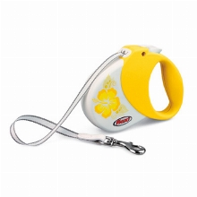 Retractable Leash flexi Hawaii Yellow