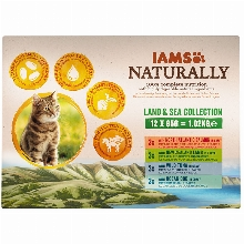 Iams Naturally Adult Cat Land & Sea Collection 12x85gr