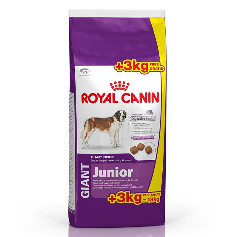 perro alimentaci n pienso royal canin size royal canin giant junior 15kg 3kg gratis. Black Bedroom Furniture Sets. Home Design Ideas