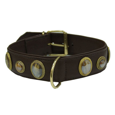 Collar Leather Kenia Brown
