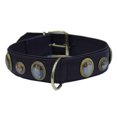 Collar Leather Kenia Black