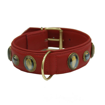 Collar Leather Kenia Red
