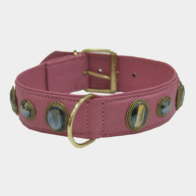 Collar Leather Kenia Pink