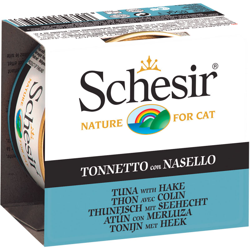 Schesir Can Cat Tuna with Hake 85gr