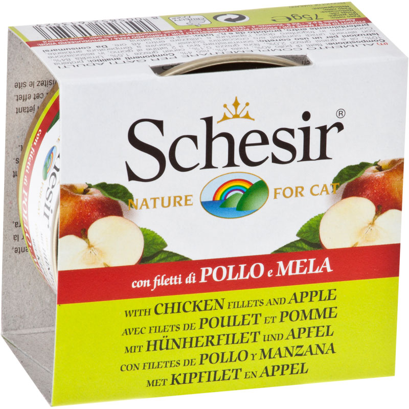 Schesir Can Cat Chicken Fillets with Apple 75gr