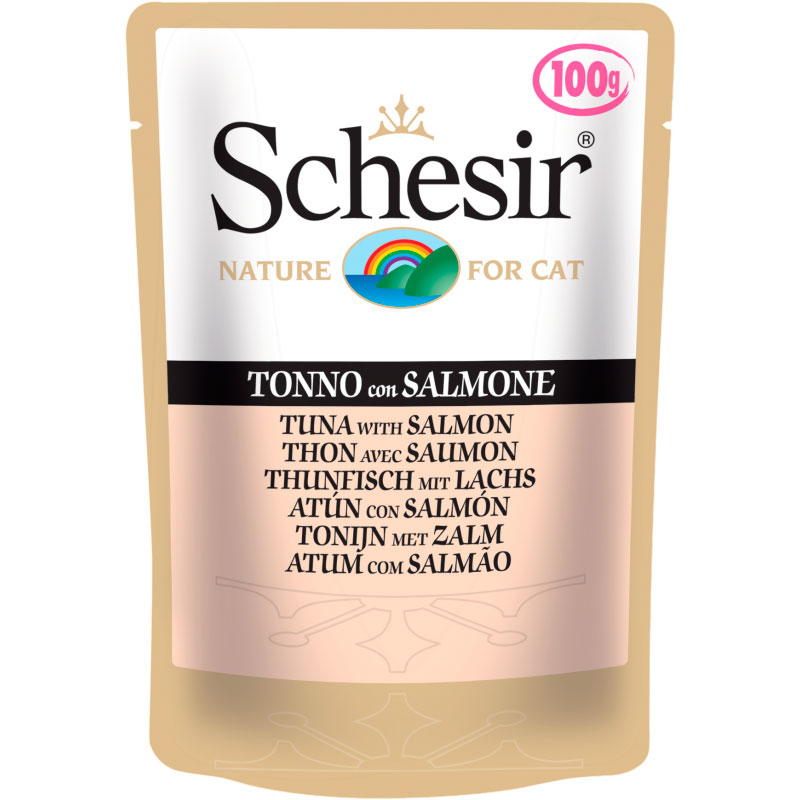 Schesir Pouch Cat Tuna with Salmon 100gr