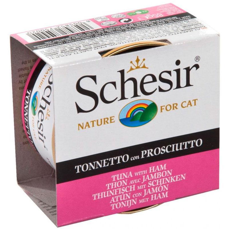 Schesir Can Cat Tuna with Ham 85gr