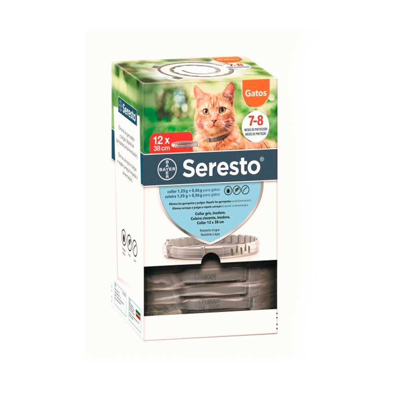 Seresto Cats Antiparasitic Collar Long Duration 8 months