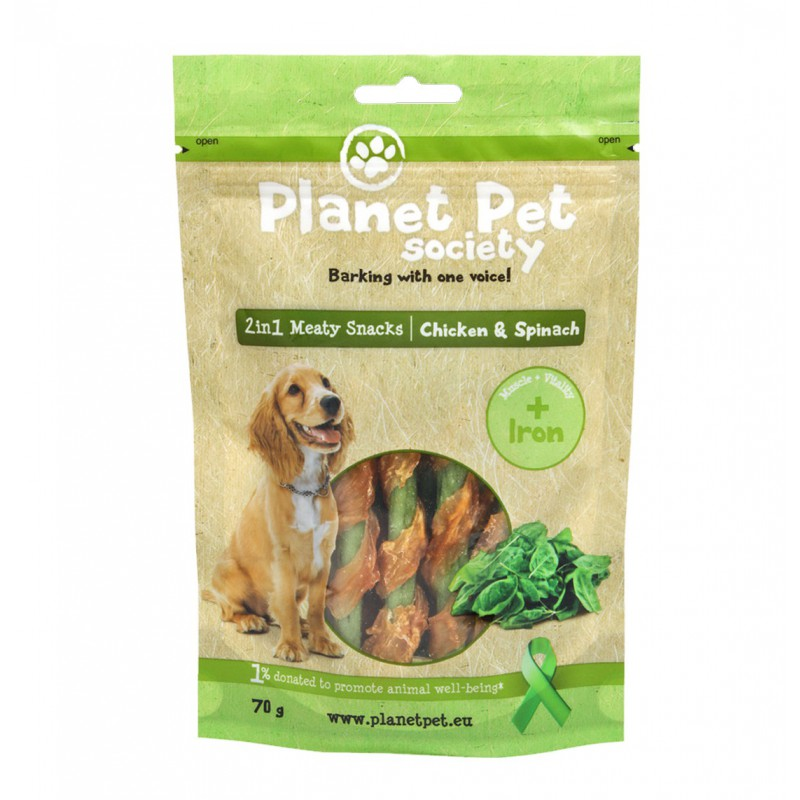 Planet Pet Snack Frutas Chicken & Spinach