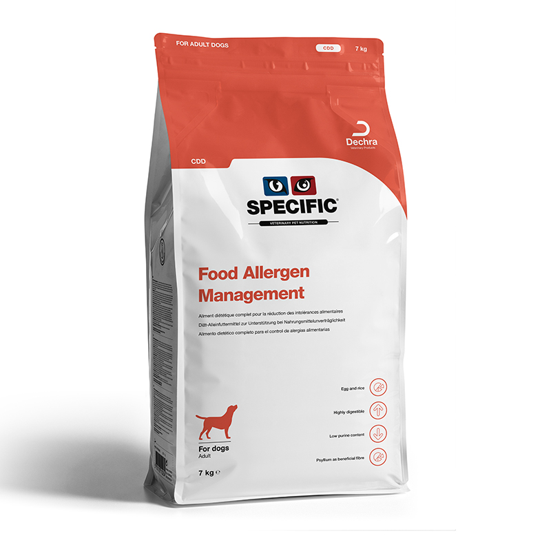 Specific CDD Food allergy management dieta para perros