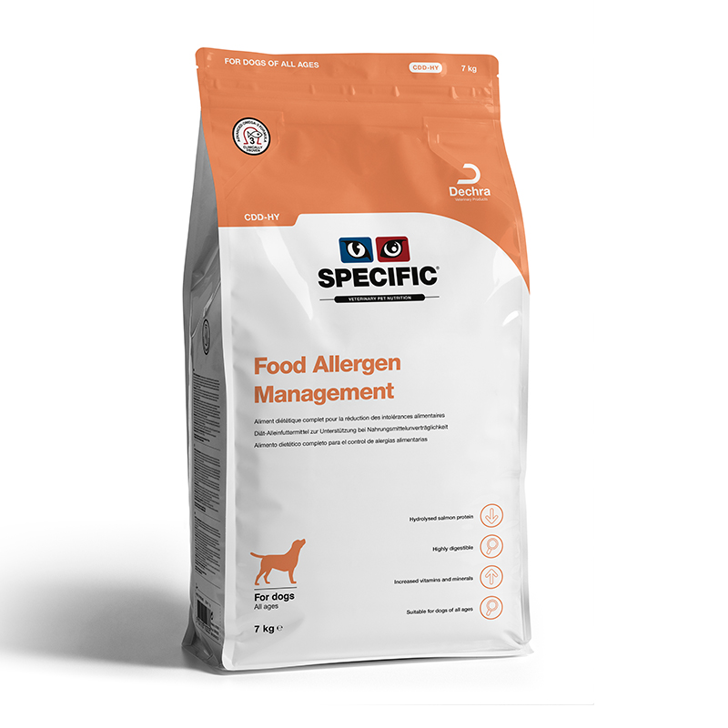 Specific Canine CDD-HY Food Allergy Management