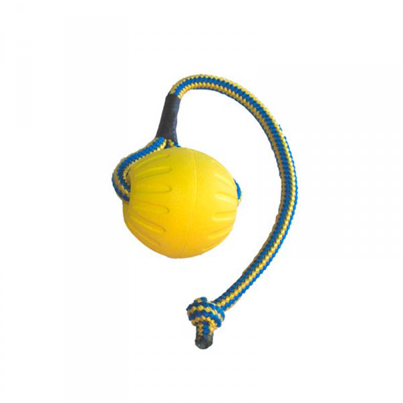 Starmark Dog Toy Fantastic Foam Ball with Rope