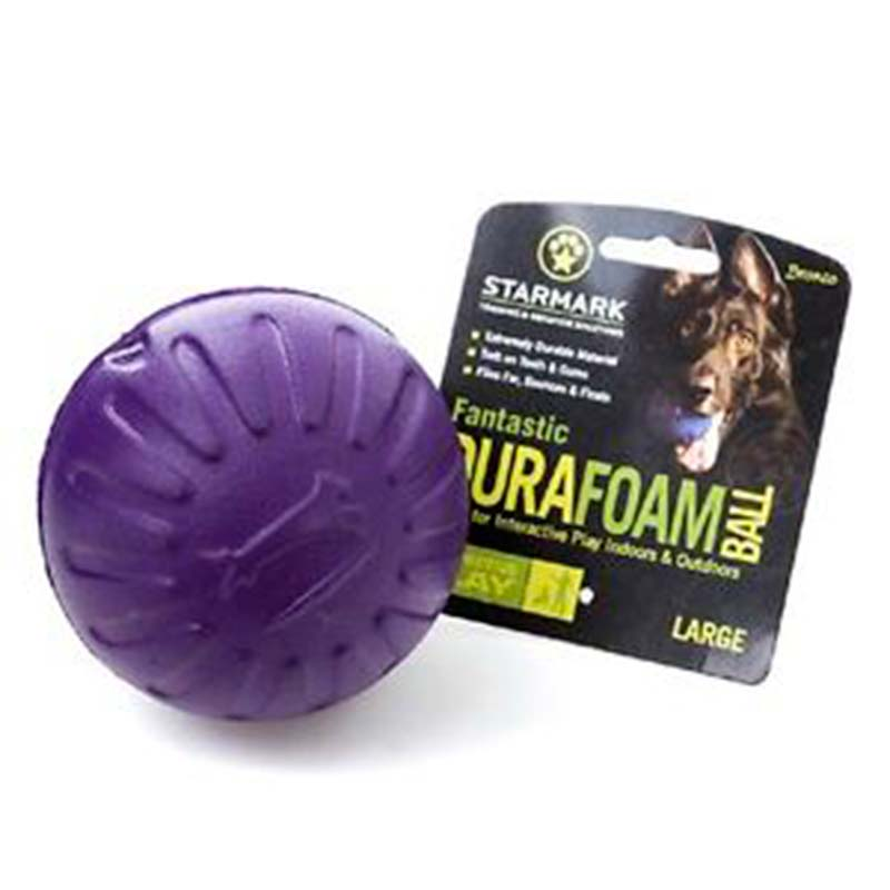 Starmark Dog Toy Fantastic Foam Ball Purple