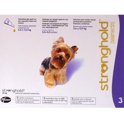 Antiparasitic Stronghold for dogs 2,6Kg-5Kg 30mg