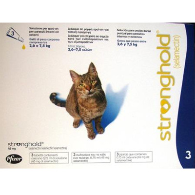 Antiparasitic Stronghold for cats 2,6Kg-7,5Kg 45mg