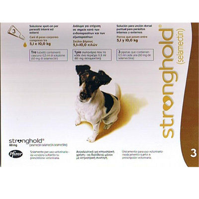 Antiparasitic Stronghold for dogs 5,1Kg-10Kg 60mg