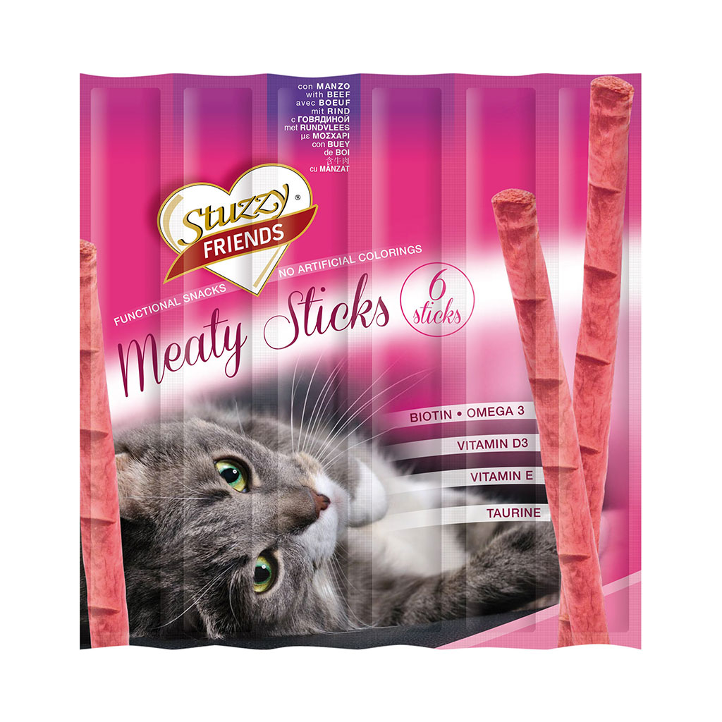 Stuzzy Friends Meaty Premios Sticks Gato Esterilizados con Pollo