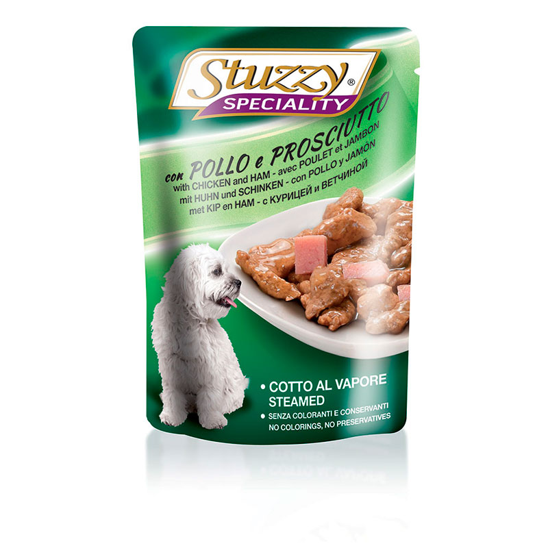 Stuzzy Speciality Dog Pouch Chicken and Ham