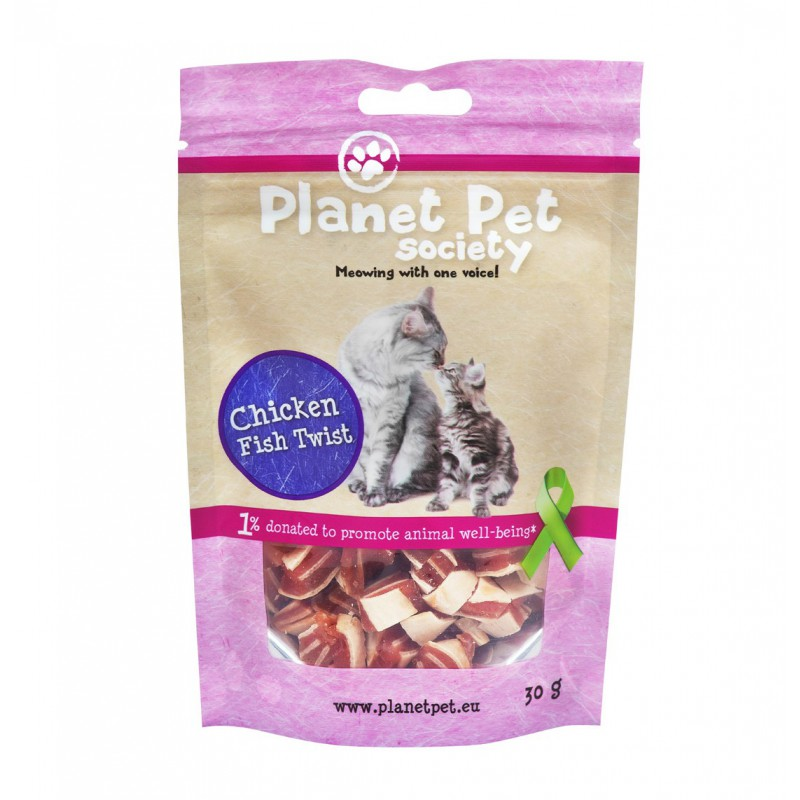 Planet Pet Cat Snack Chicken & Fish Twist