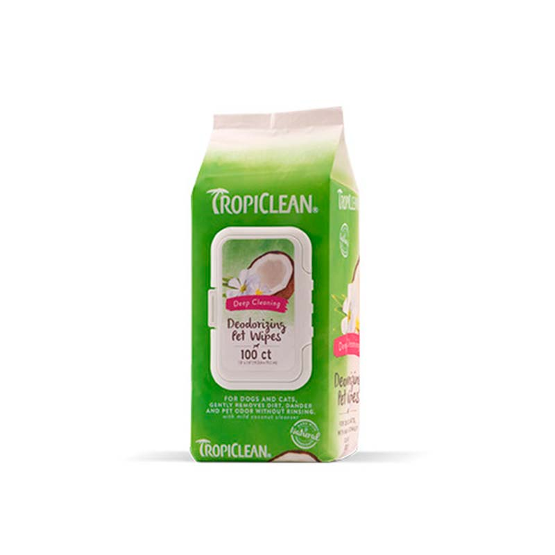 Tropiclean Deep Cleaning Wipes