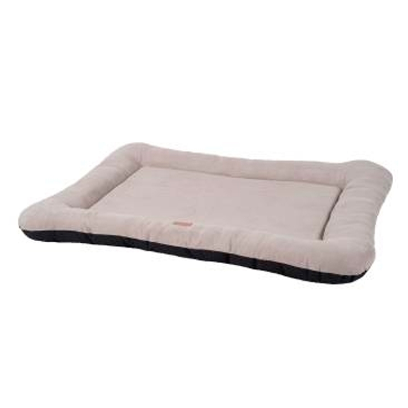 Wouapy Bed Basic Mattress Bordure Suede Beige