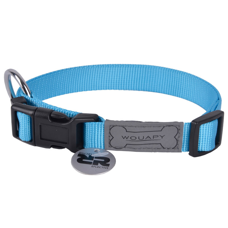 Wouapy Blue Basic Line Collar For Dogs