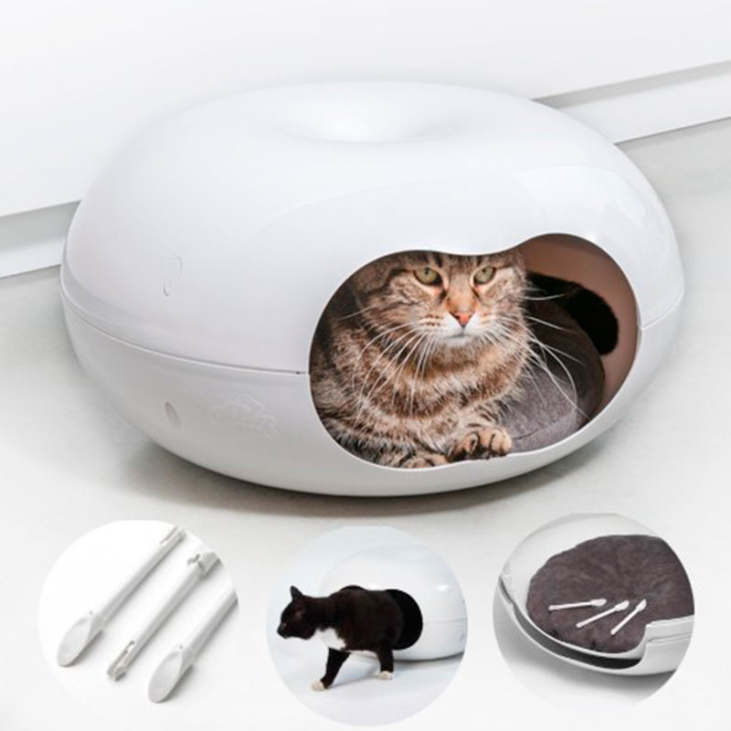 Yagu Rest Cat House Donnut with Cushion