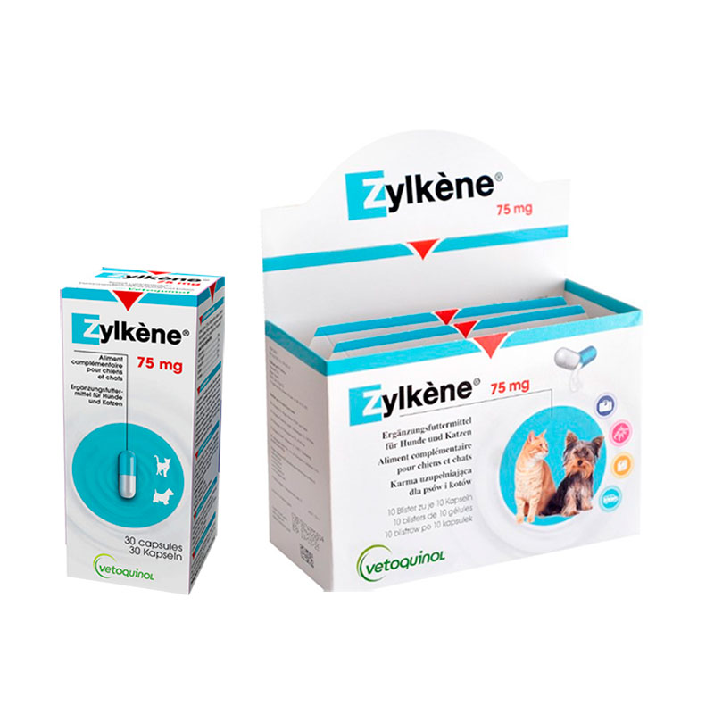 Zylkene 75mg Natural Calming Cats & Small Dogs Vetoquinol