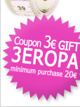 3€ Gift Coupon to purchase items from canine fashion worth more than 20 €